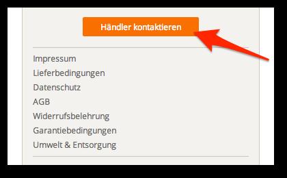 Händlerkontakt Website