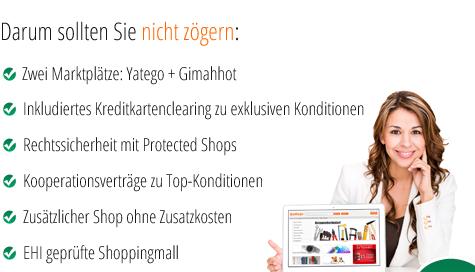 Verkaufen mit Yatego - Die Vorteile