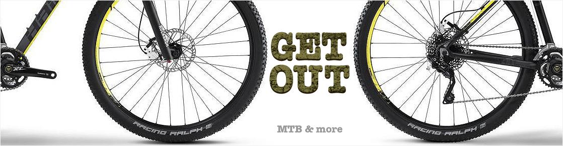 Banner mit Mountainbikes