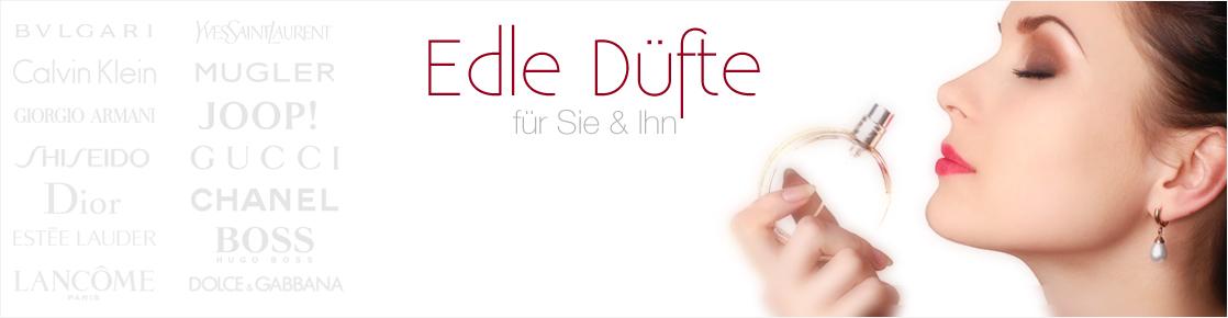 Banner mit Parfum verschiedner Marken