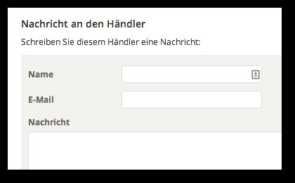 Händlerkontakt Webformular