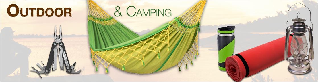 Banner mit Outdoor- und Camping Zubehör