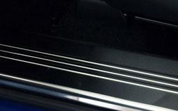 Kleine Grafik zum Thema Einstiegsleisten mit einer Innenraum-Einstiegsleiste aus Edelstahl