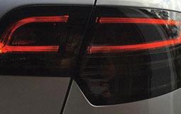Kleine Grafik zum Thema Rückleuchten mit einem dunklen LED-Rückscheinwerfer eines Audi A3