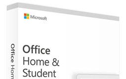Weiße Software-Verpackung von Microsoft Office Home & Student