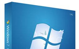 Hellblaue Software-Verpackung von Microsoft Windows 7 Professional