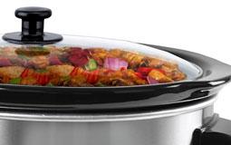 Kleine Grafik zum Thema Küchengeräte mit einem gefüllten Slow Cooker