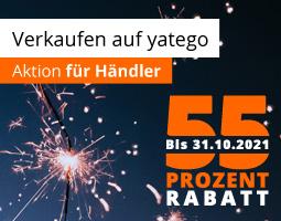 Kleine Grafik zum Thema Verkaufen auf yatego mit der Jubiläums-Kampagne 18 Jahre yatego