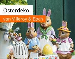Kleine Grafik zum Thema Osterdekoration mit einer Hasen-Figur der Kollektion Bunny Tales von Villeroy & Boch