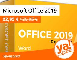 Kleine Grafik zum Thema Deal der Woche mit Microsoft Office 2019 Home & Student als Download