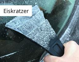 Kleine Grafik zum Thema Winter mit einer Hand, die mit einem schwarzen Eiskratzer eine Autoscheibe vom Eis befreit