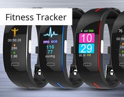 Kleine Grafik zum Thema Fitness mit drei Modellen der JBC Fitness Tracker
