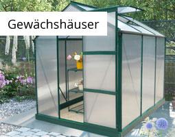 Kleine Grafik zum Thema Garten mit einem Gewächshaus aus Aluminium