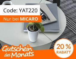 Kleine Grafik zum Thema Gutschein mit einem hellgrauen Beistelltisch des Yatego-Shops Micaro