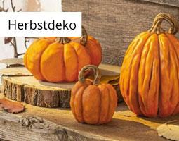 Kleine Grafik zum Thema Herbst mit einer herbstlichen Tischdeko mit Kerze