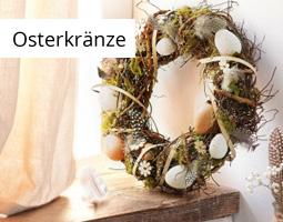 Kleine Grafik zum Thema Ostern mit einem Osterkranz mit Kerze in der Mitte