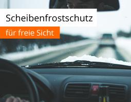 Kleine Grafik zum Thema Winter mit einer freien Autoscheibe
