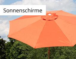 Kleine Grafik zum Thema Garten mit einem orangenen Sonnenschirm