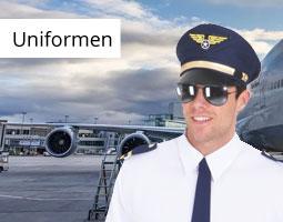 Kleine Grafik zum Thema Fasching & Karneval mit einem Piloten vor einem Flugzeug stehend