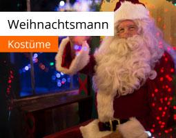 Kleine Grafik zum Thema Weihnachtsmannkostüm mit einem Santa Claus, der zuwinkt