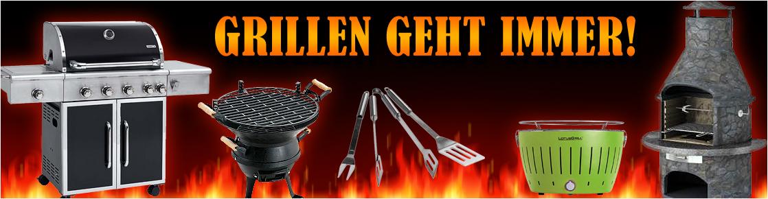 Alles zum Grillen: Gasgrills, Kohlegrills, Elektrogrills und Zubehör