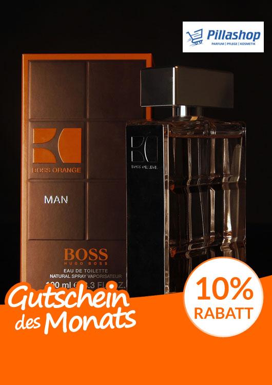 Vibes-Kachel zum Thema Gutschein mit dem Parfum BOSS Orange