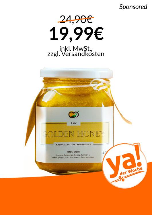 Vibes-Kachel zum Thema Deal der Woche mit Bio Golden Honey