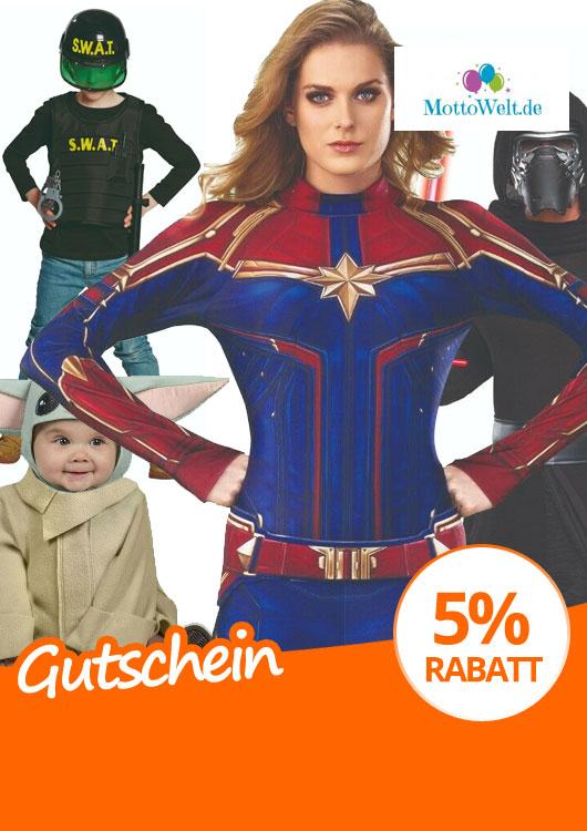 Vibes-Kachel zum Thema Gutschein mit unterschiedlichen Kostümen für Groß und Klein