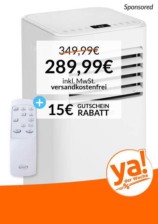 Vibes-Kachel zum Thema Deal der Woche mit dem Klimagerät Argo Iside + 15 EUR Gutschein Rabatt