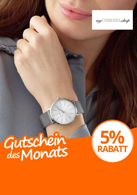 Vibes-Kachel zum Thema Gutschein mit einer Armbanduhr der Marke Michael Kors am Handgelenk einer Frau