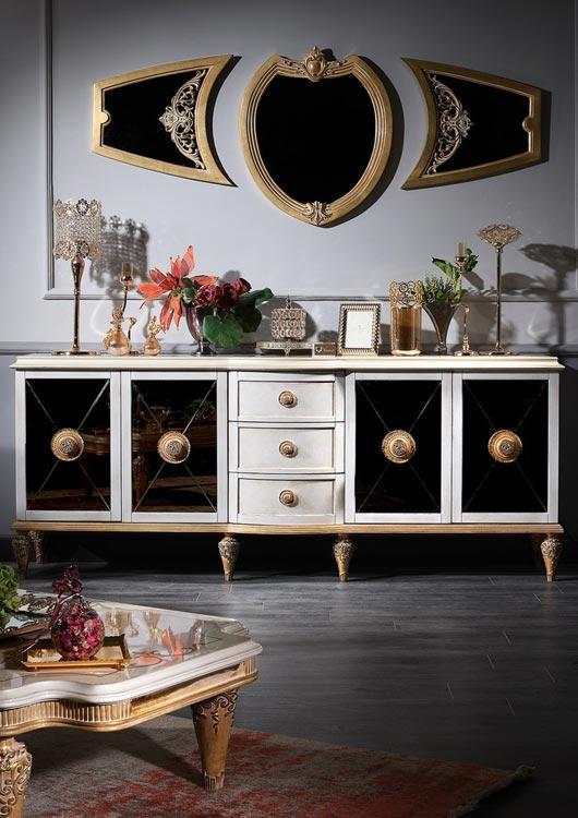 Vibes-Kachel zum Thema Luxusmöbel mit einem Wohnzimmer-Set im Barockstil von Casa Padrino